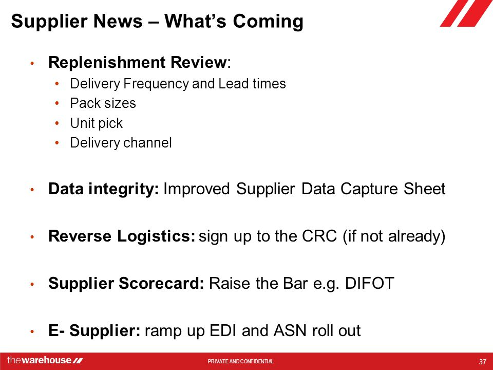 Supplier News – What's Coming