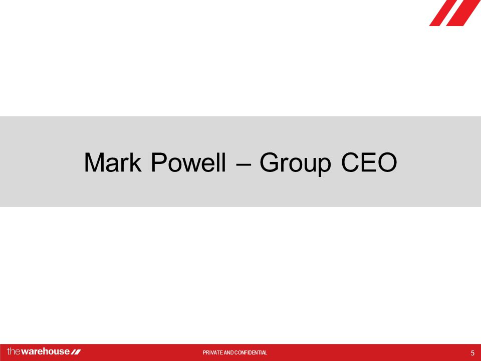Mark Powell – Group CEO