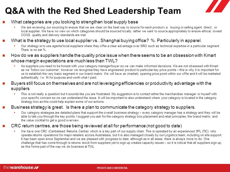 Q&A with the Red Shed Leadership Team