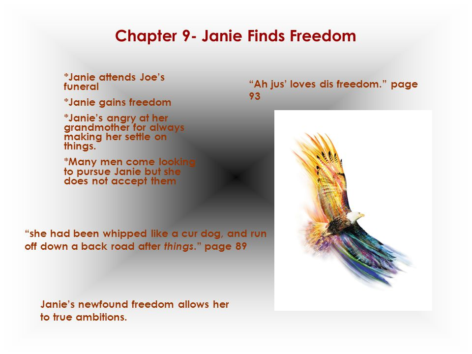 Chapter 9- Janie Finds Freedom