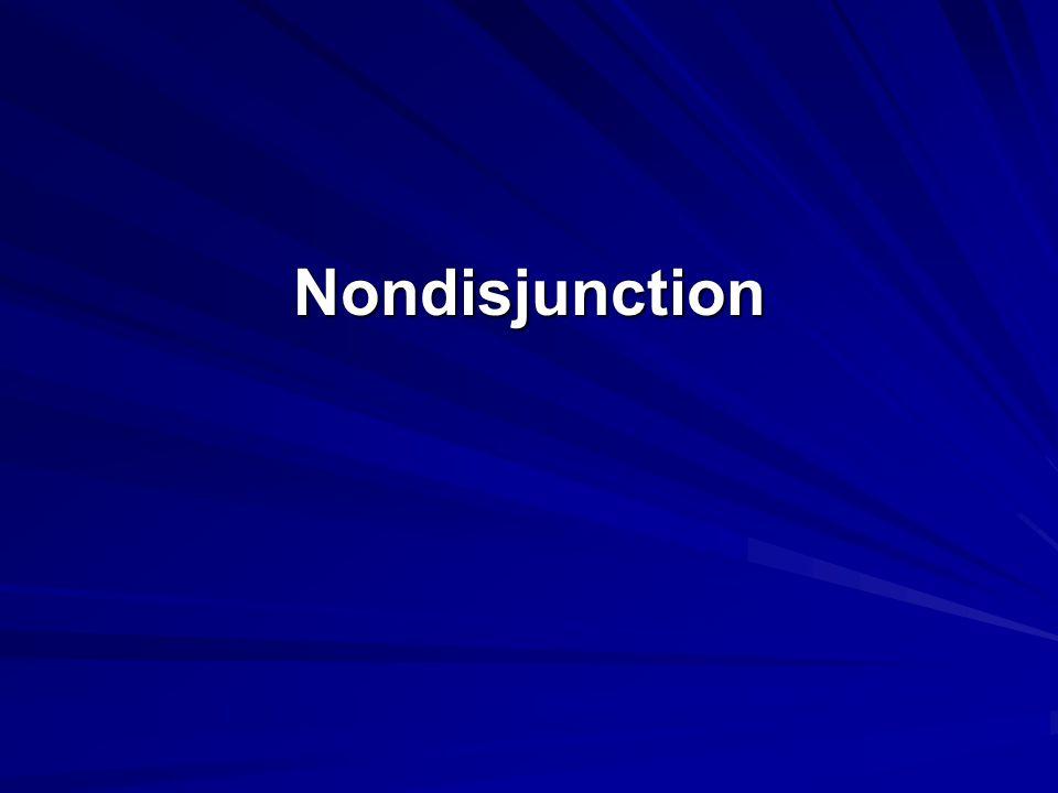 Nondisjunction GT pg.363-364 (Section 13.10) chromosomal mutation, p.408 (Last paragraph) .