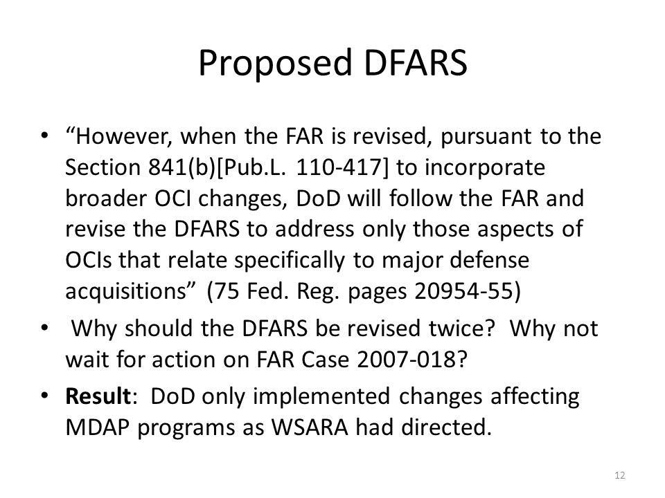 Proposed DFARS