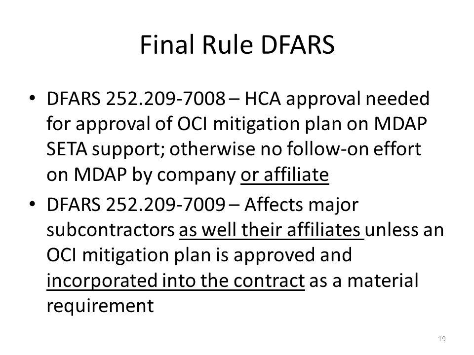 Final Rule DFARS
