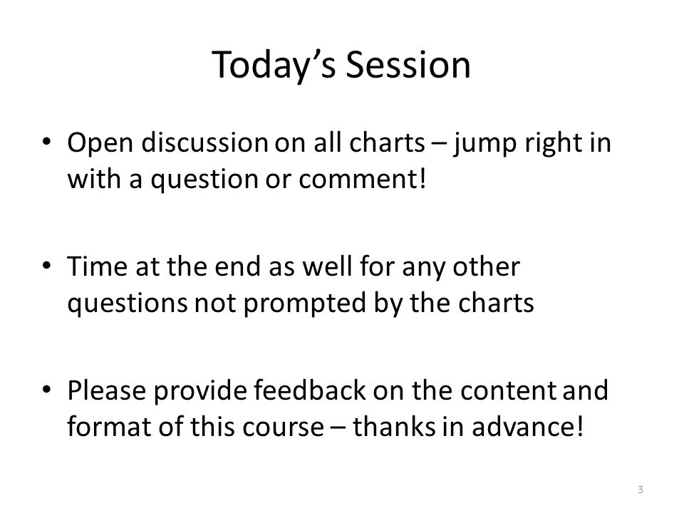 Today's Session Open discussion on all charts – jump right in with a question or comment!