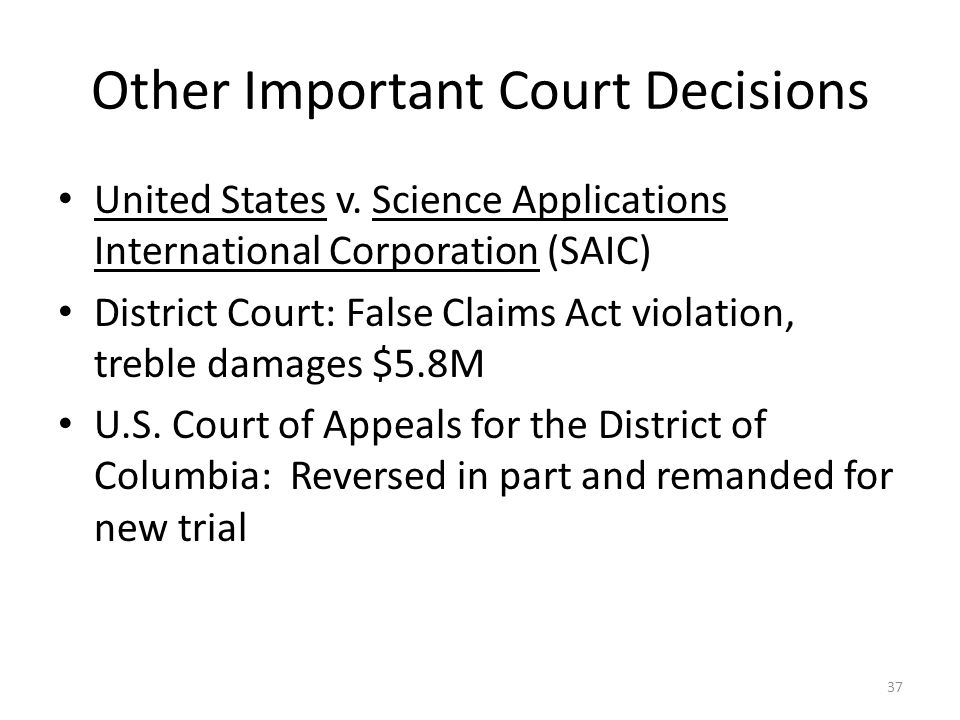 Other Important Court Decisions