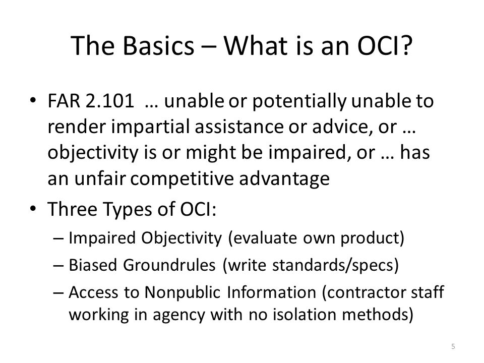The Basics – What is an OCI