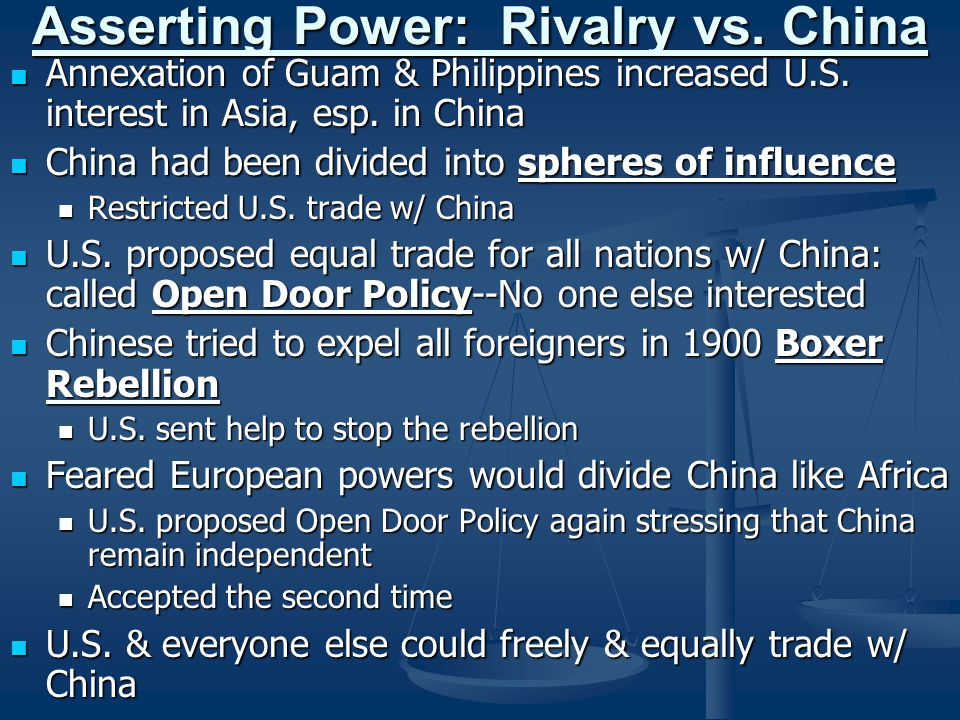 Asserting Power: Rivalry vs. China