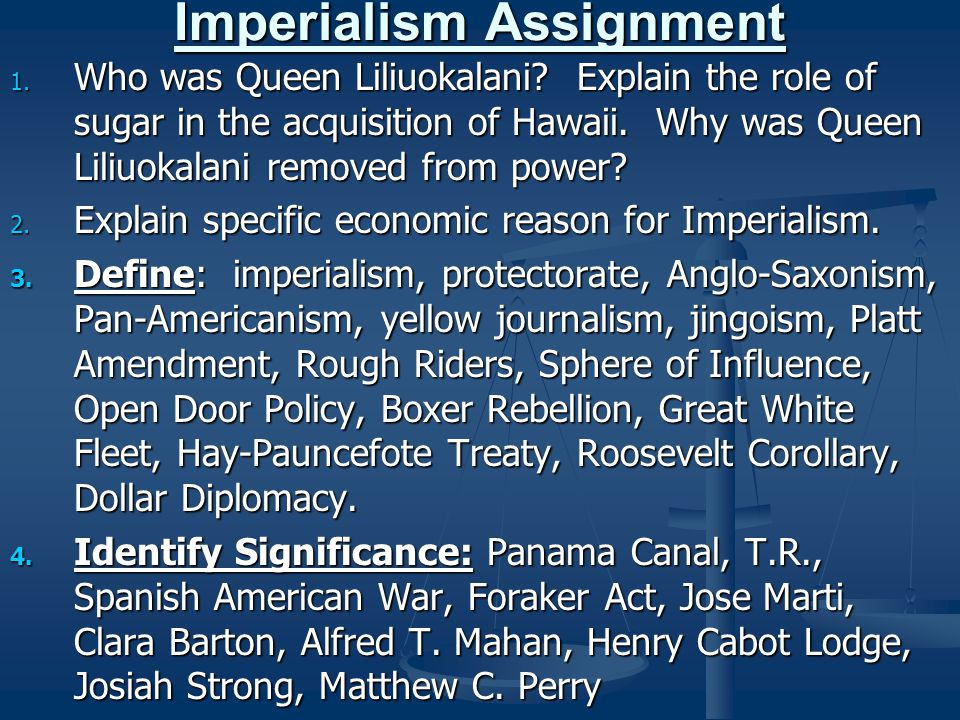 Imperialism Assignment