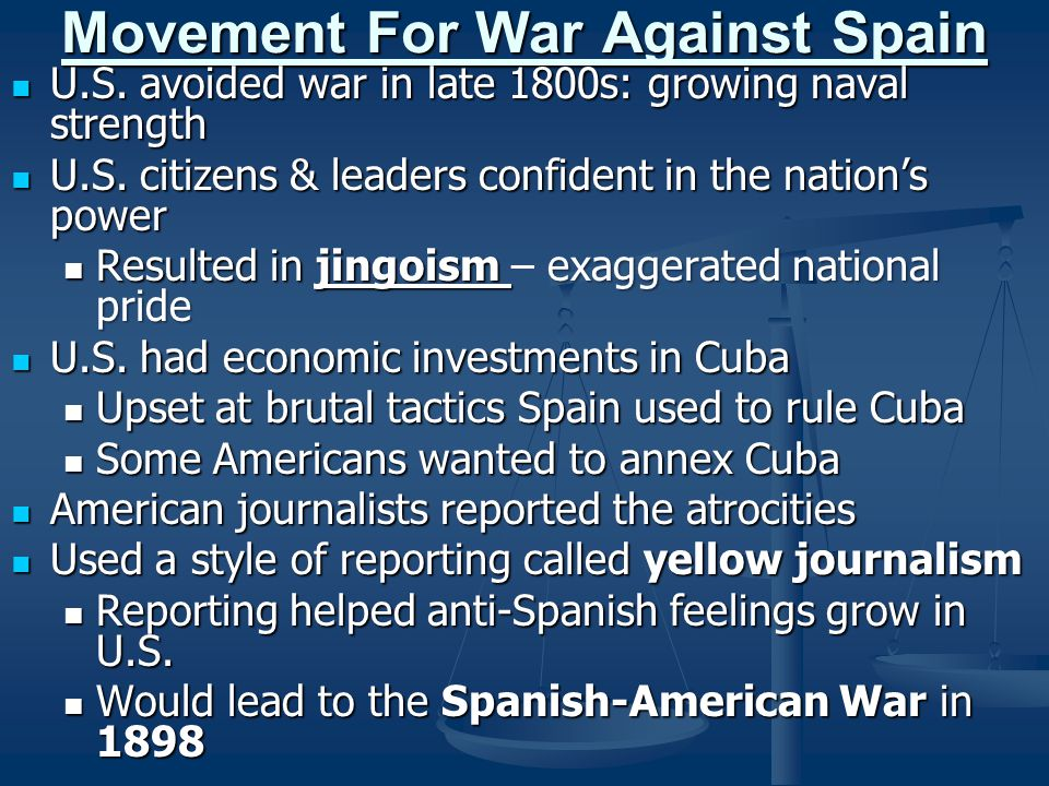 Movement For War Against Spain