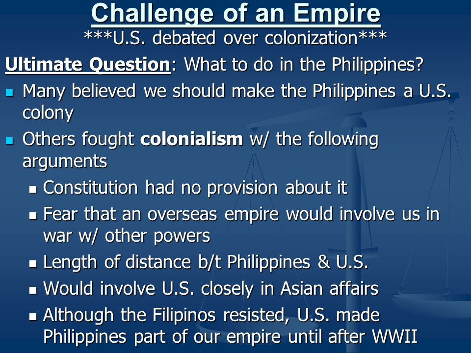***U.S. debated over colonization***