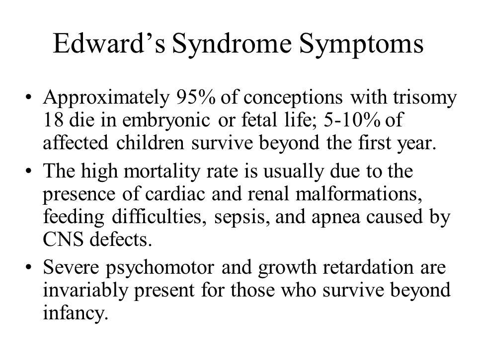 Edward's Syndrome Symptoms