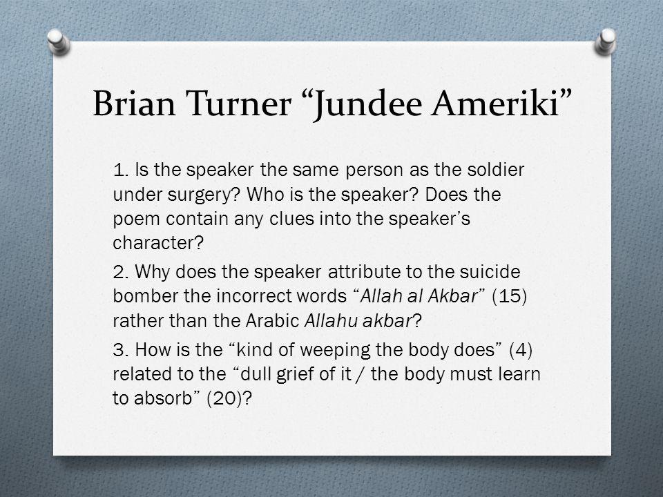 Brian Turner Jundee Ameriki
