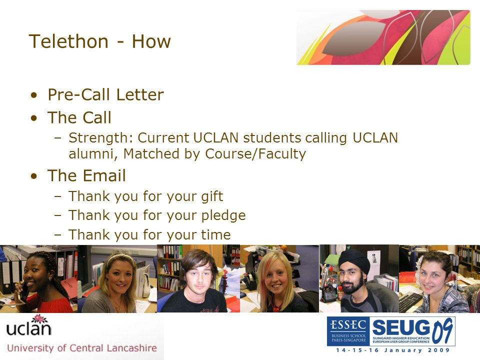 Telethon - How Pre-Call Letter The Call The Email