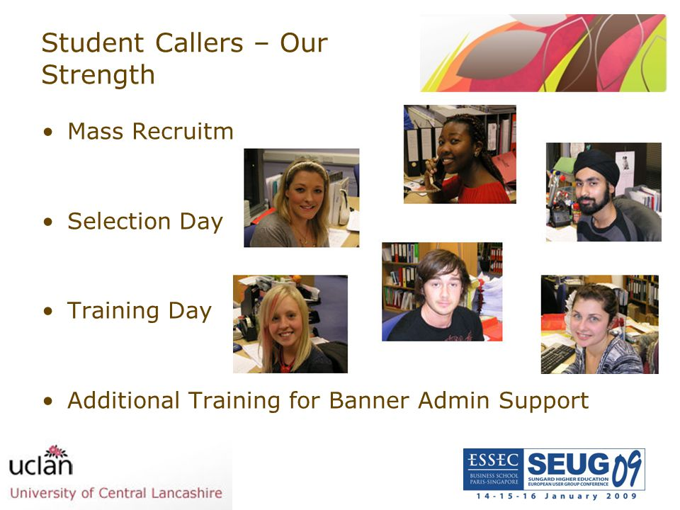 Student Callers – Our Strength