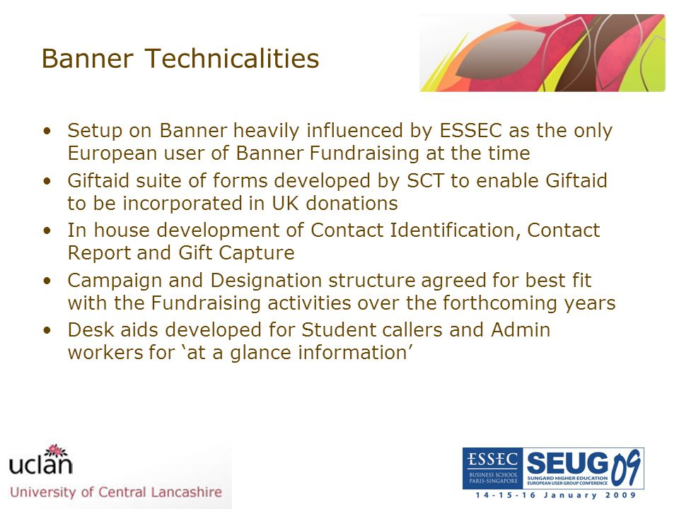 Banner Technicalities