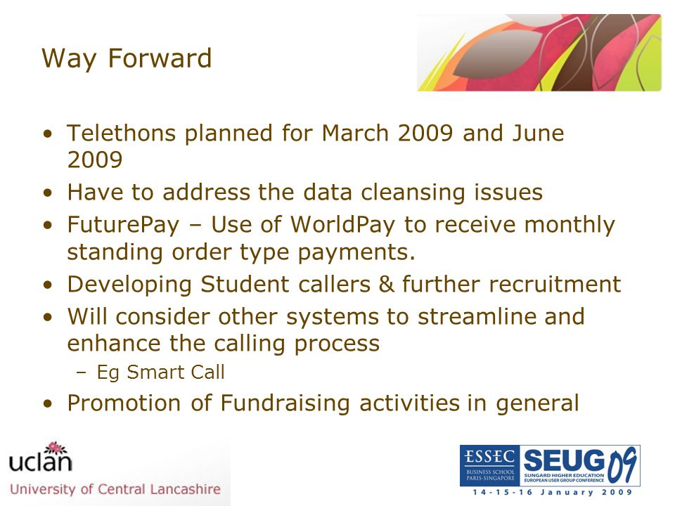 Way Forward Telethons planned for March 2009 and June 2009