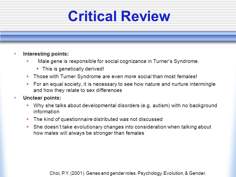 Critical Review Interesting points: