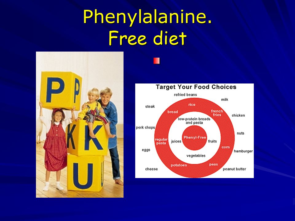 Phenylalanine. Free diet