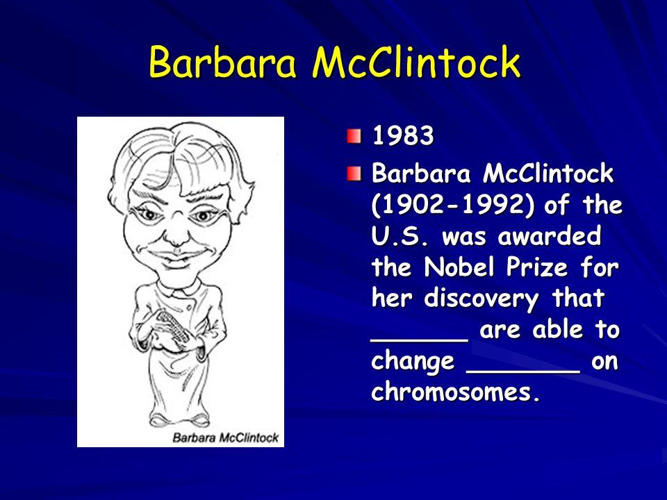 Barbara McClintock 1983.