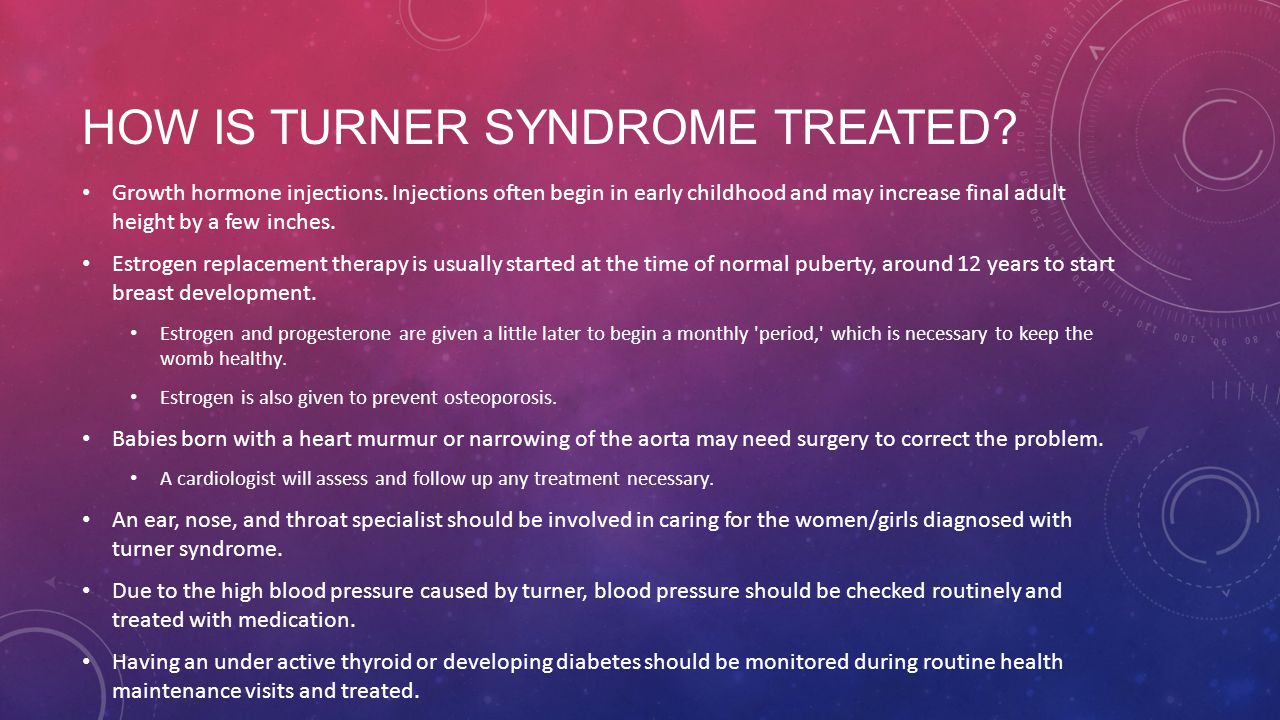 How is turner syndrome treated