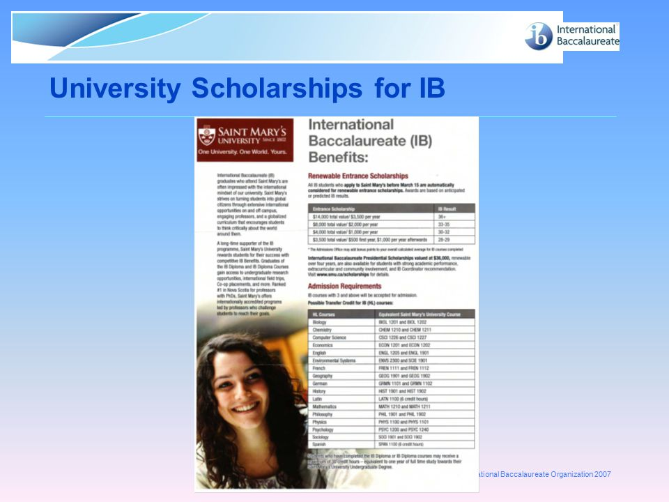 University Scholarships for IB