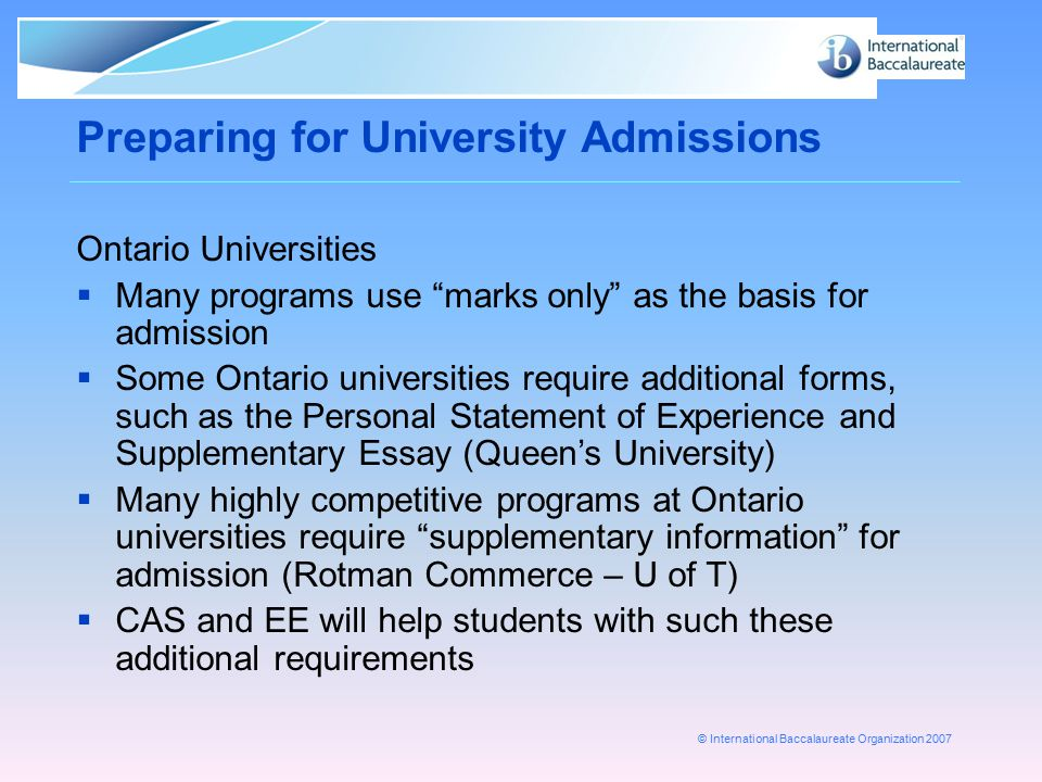 rotman supplementary essay Bachelor of commerce, bcom ouac program code qc grade range 87%+  the pse and supplementary essay are required documents.