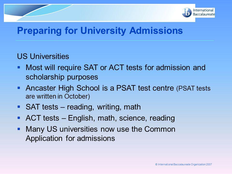 Preparing for University Admissions