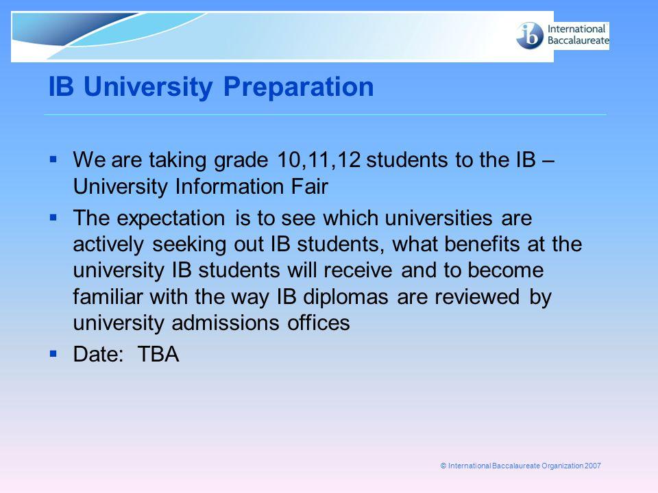 IB University Preparation
