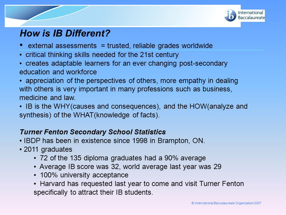 external assessments = trusted, reliable grades worldwide