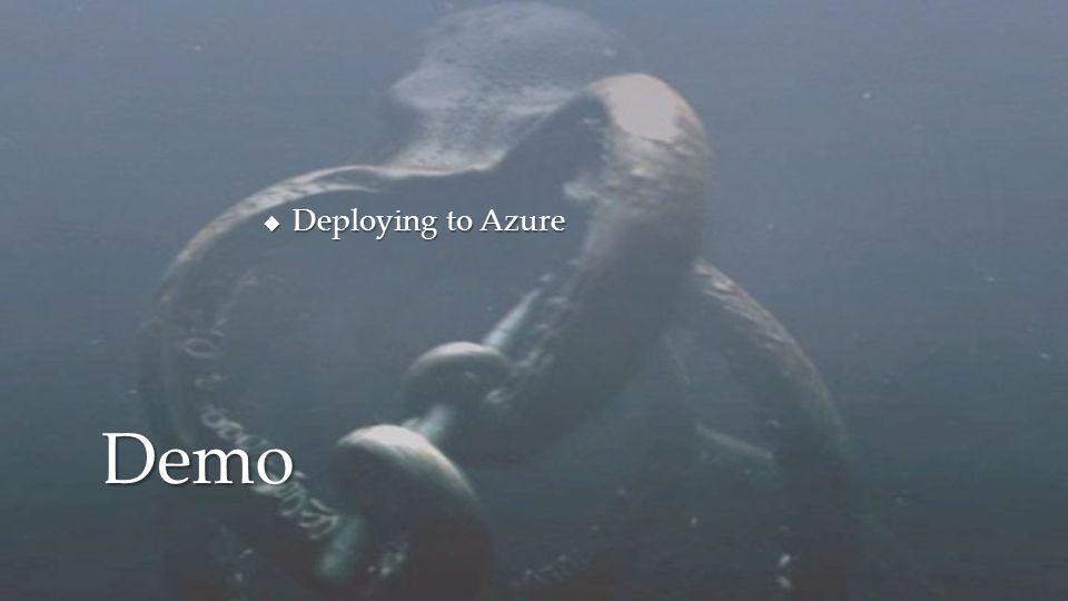 Deploying to Azure Demo