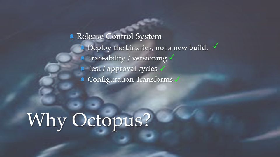 Why Octopus Release Control System