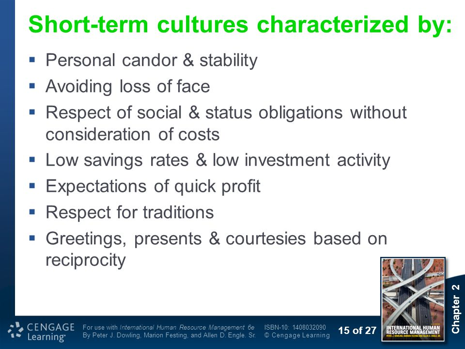 Short-term cultures characterized by: