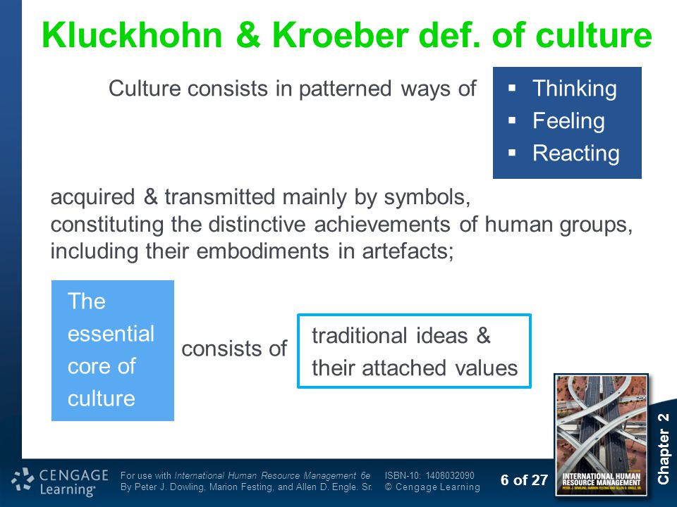 Kluckhohn & Kroeber def. of culture