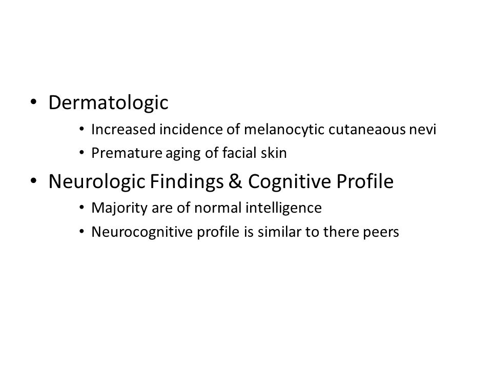 Neurologic Findings & Cognitive Profile
