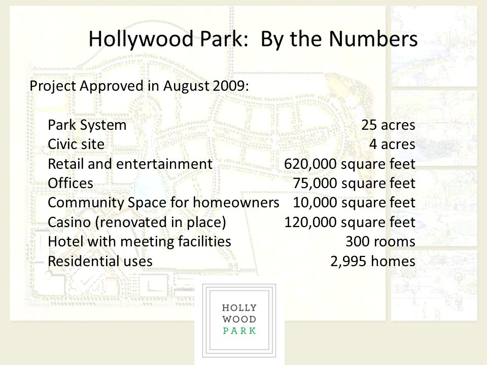 Project Approved in August 2009: