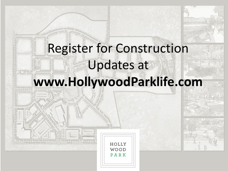 Register for Construction Updates at