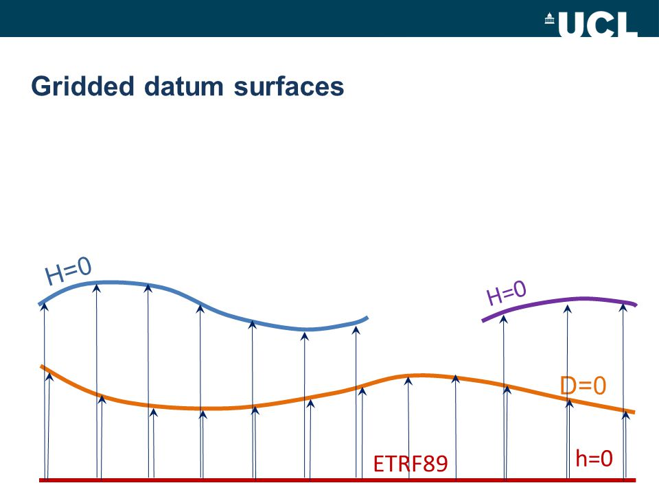 Gridded datum surfaces