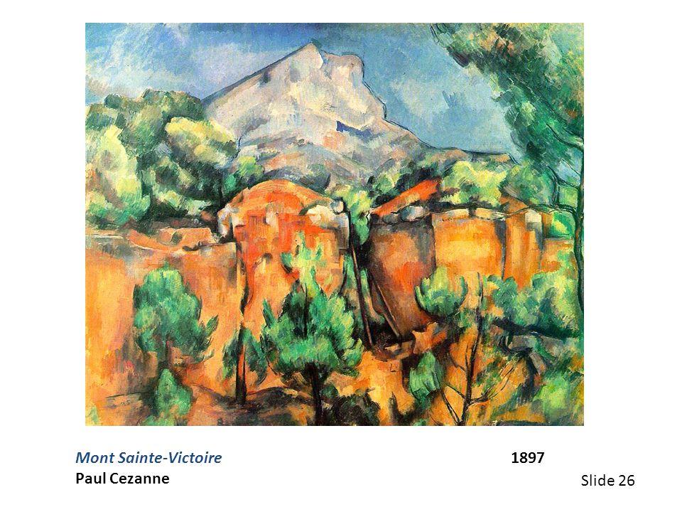 Mont Sainte-Victoire 1897 Paul Cezanne.