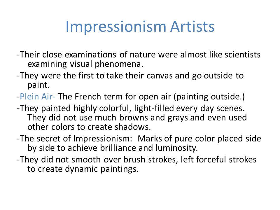 Impressionism Artists