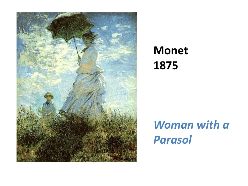 Monet 1875 Woman with a Parasol