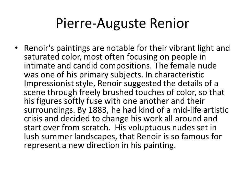 Pierre-Auguste Renior