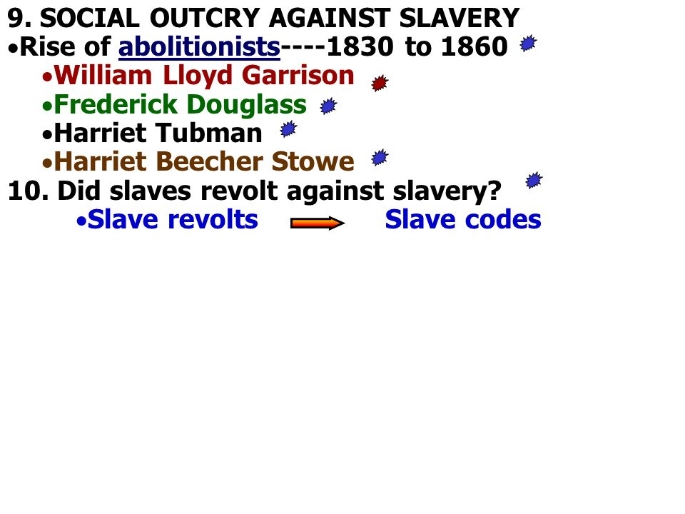 9. SOCIAL OUTCRY AGAINST SLAVERY