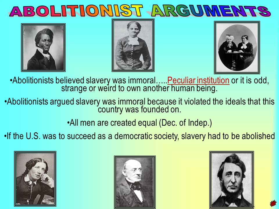ABOLITIONIST ARGUMENTS