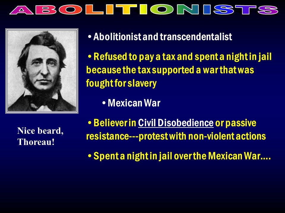 Abolitionist and transcendentalist