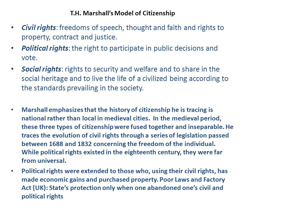 T.H. Marshall's Model of Citizenship
