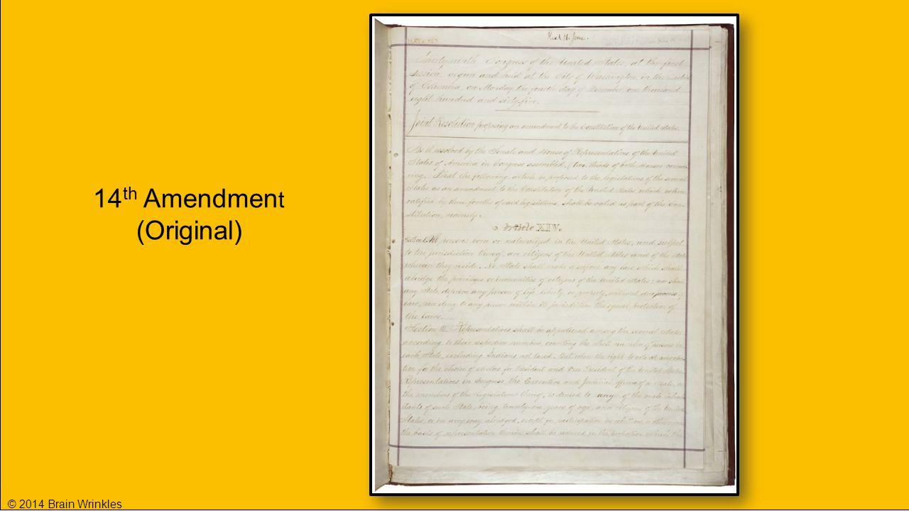 14th Amendment (Original) © 2014 Brain Wrinkles