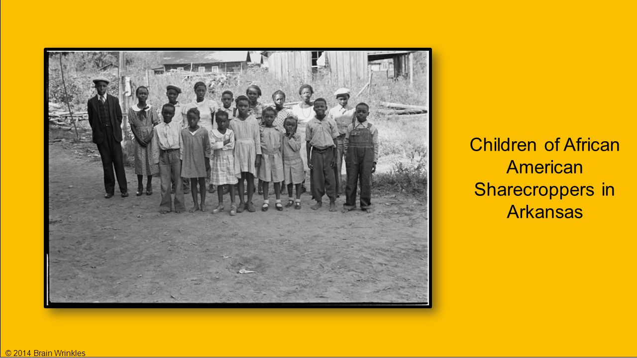 Children of African American Sharecroppers in Arkansas