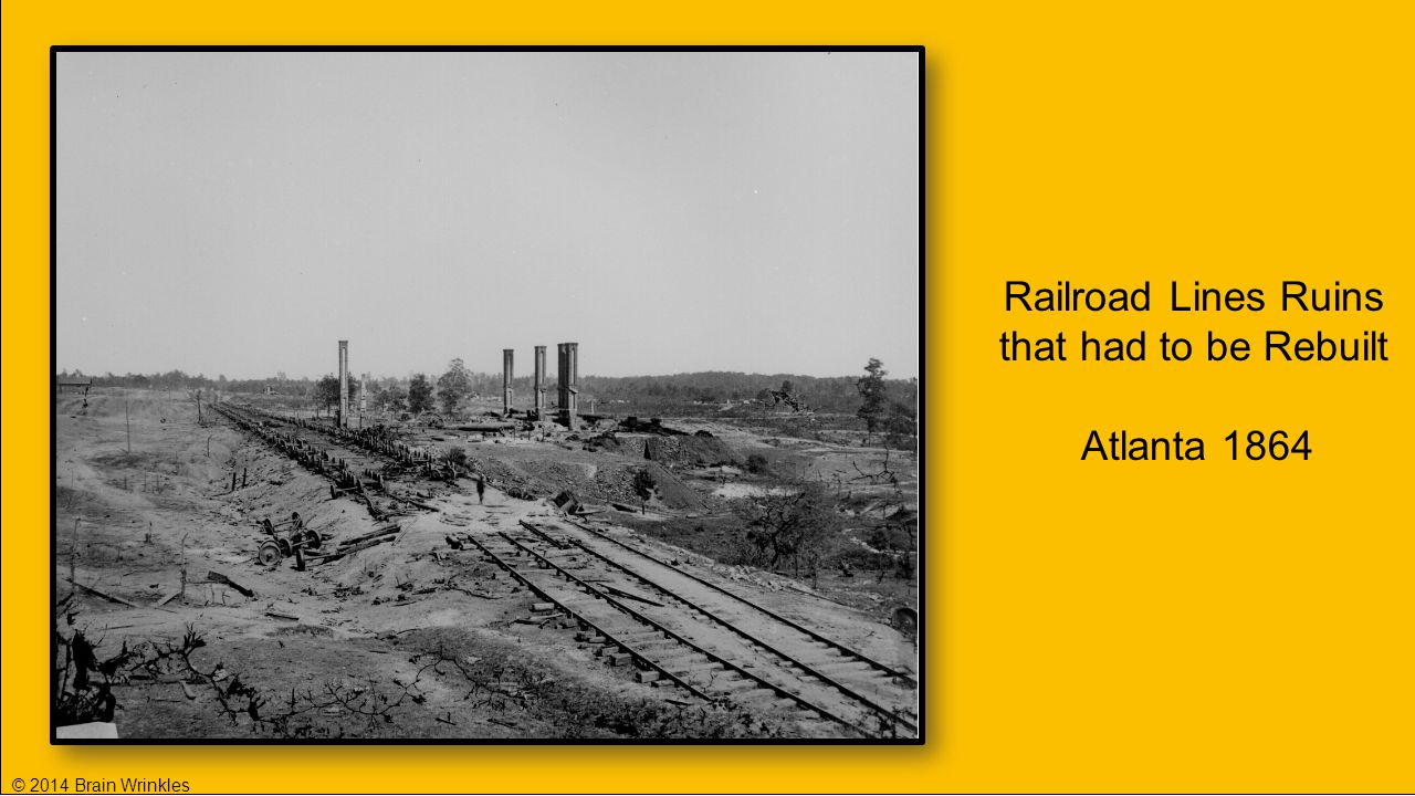 Railroad Lines Ruins that had to be Rebuilt