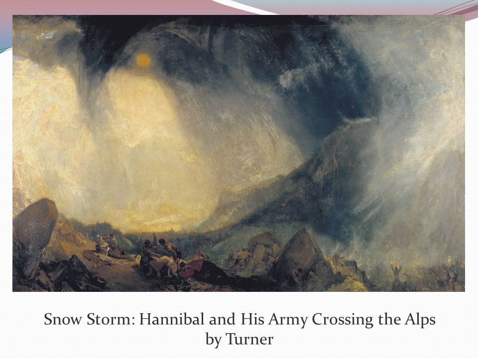 Snow Storm: Hannibal and His Army Crossing the Alps by Turner