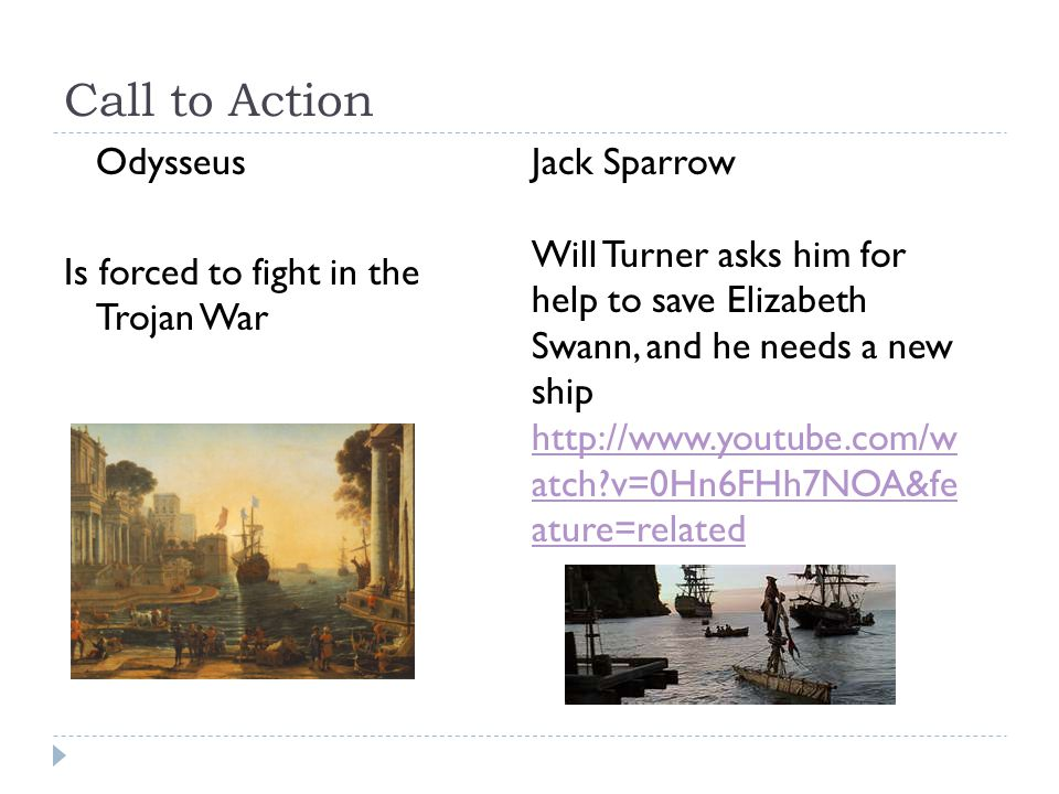 Call to Action Odysseus Is forced to fight in the Trojan War
